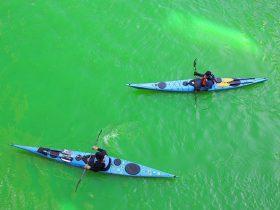シーマーカー(海面着色剤) 聖パトリックの日は川が緑に